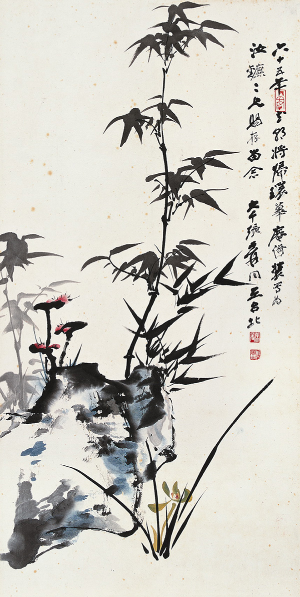 Zhang Daqian: Bamboo, Rocks, and Orchids