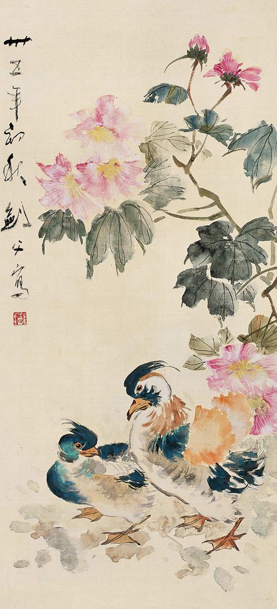 ... Roses and Mandarin Ducks   Chinese Bird Painting   China Online Museum