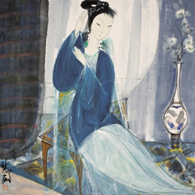 Lin Fengmian: Lady in Blue