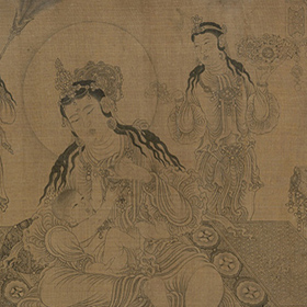 Wang Zhenpeng: Mahaprajapati Nursing the Infant Buddha