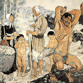 Xu Beihong: The Foolish Old Man Removes the Mountains