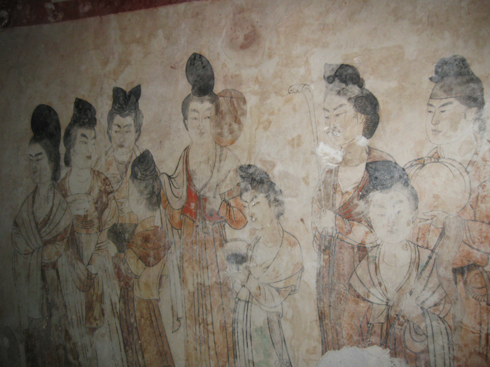 Wall Painting in Princess Yongtai's Tomb