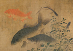 Liu Cai: Fish Swimming Amid Falling Flowers