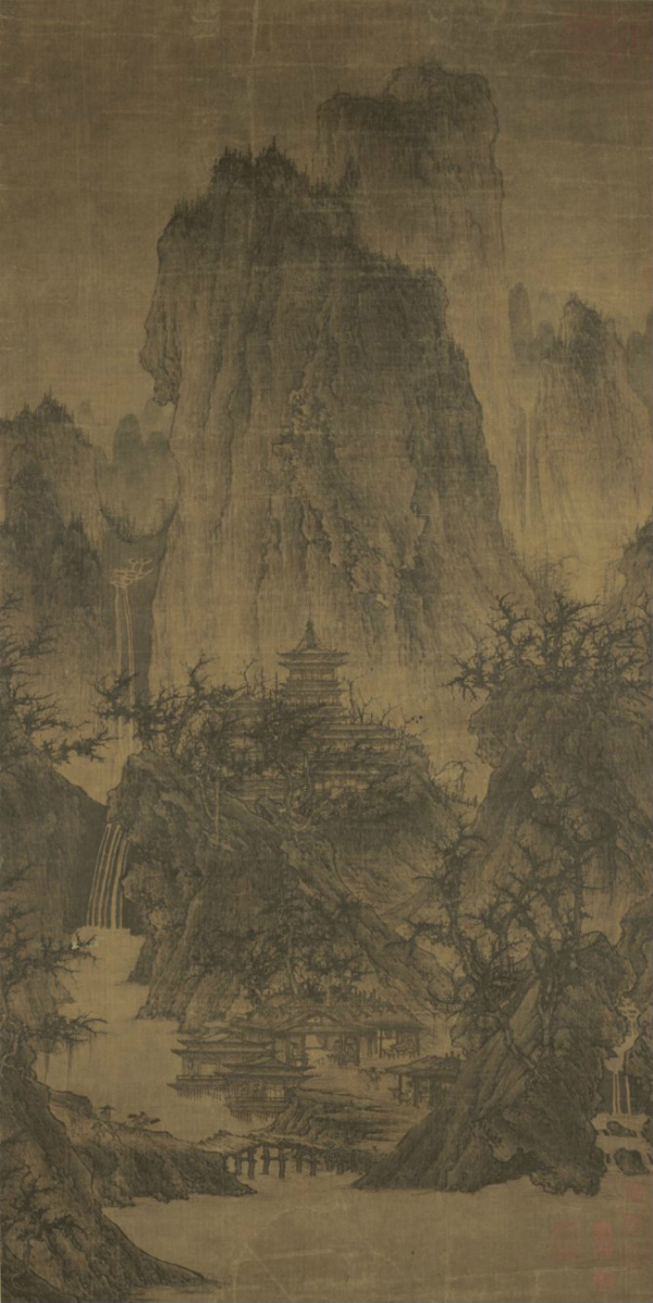 Li Cheng: A Solitary Temple Amid Clearing Peaks