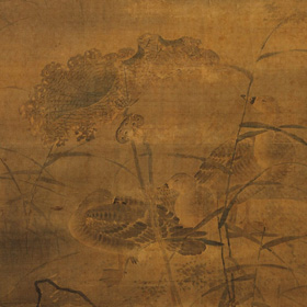 Lü Ji: Ducks Sleeping on a Lotus Bank