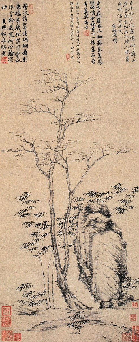 Ancient Chinese Bamboo Painting