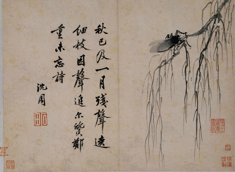 Shen Zhou: A Crying Cicada on an Autumn Willow