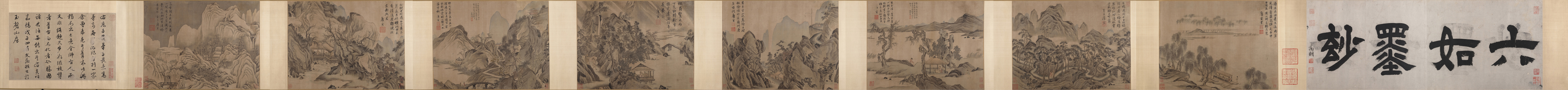 Tang Yin: Eight Album Leaves of Landscape
