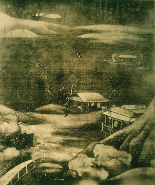 Wang wei snowy stream chinese paintings china online for Dynasty mural works