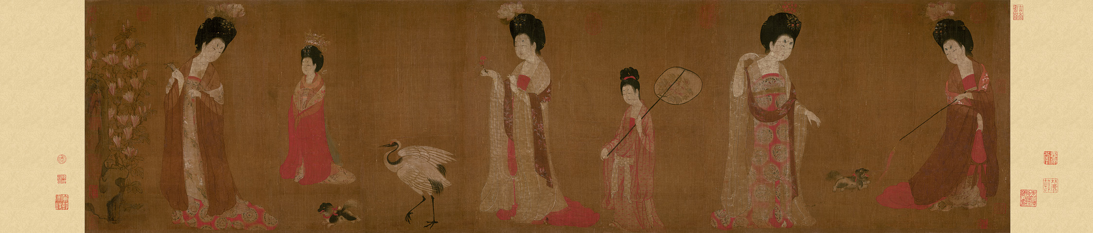 Zhou Fang: Court Ladies Wearing Flowered Headdresses