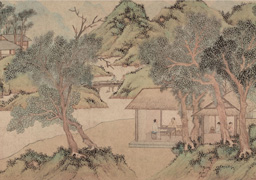 Wen Zhengming: Huxi Thatched Cottage